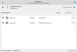 """warpinator, nouvelle outil dans Linux Mint 20 """"Ulyana"""""""