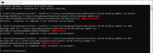 Vérifier l'intégrité d'un fichier sous Windows : calculer empreintes d'un fichier sous Windows et CMD