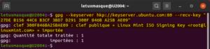 import clé public linux mint