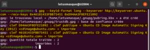 import des clés publics ubuntu
