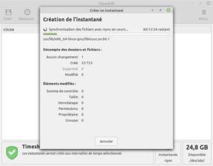 Linux Mint 20 - créer premier instantané avec Timeshift