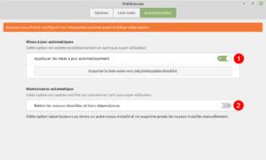 Linux Mint 20 - maj automatique