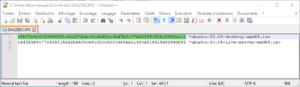 notepad++ fichier sha256sums ubuntu focal