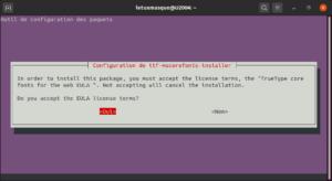 ttf-mscorefonts-installer accept licence eula