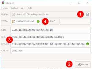 Vérifier l'intégrité d'un fichier sous Windows avec Gtkhash