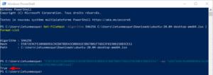 Vérifier l'intégrité d'un fichier sous Windows : comparaison d'empreinte dans powerShell