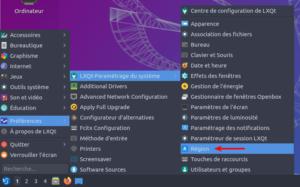 accès paramètres région Lubuntu 20.04