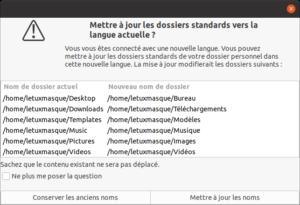 changer nom des dossiers standards Ubuntu