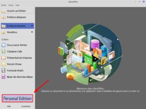 accueil LibreOffice 7 RC1