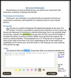 Création d'annotation