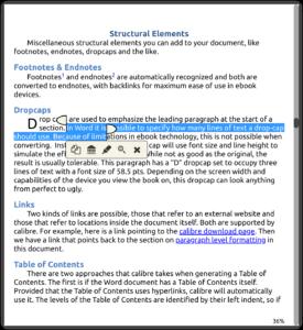 Sélection de texte pour créer une mise en évidence