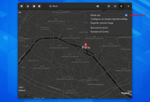 Mode nuit Gnome Maps