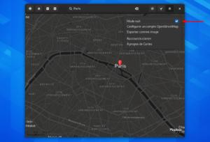 Mode nuit Gnome Maps