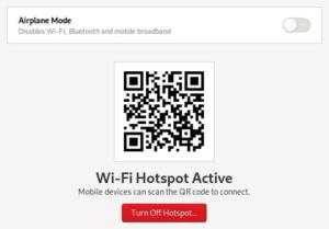 QR Point d'accès Wifi