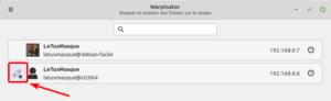 Utilisateur Warpinateur passé hors ligne (dans Linux Mint 20)
