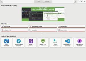 Application Snap Store sur Linux Mint