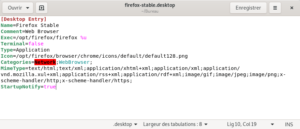 Fichier lanceur firefox-stable.desktop