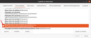 Dépôts tiers à réactiver dans Ubuntu 20.10 après mise à niveau