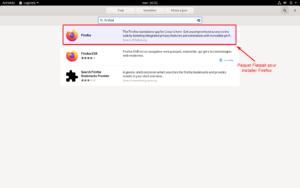 Paquet Flatpak Firefox dans le Gnome-Software sur Debian