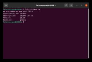 Informations version Ubuntu 20.10