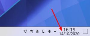 Horloge avec la date par défaut dans KDE Plasma 5.20