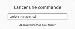 Lanceur de commande dans Ubuntu 20.04 LTS