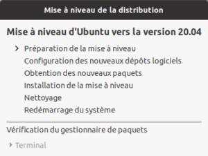 Préparation mise a niveau vers Ubuntu 20.10