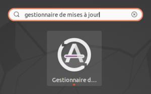 Lanceur du Gestionnaire de mises à jour sur Ubuntu 20.04 LTS