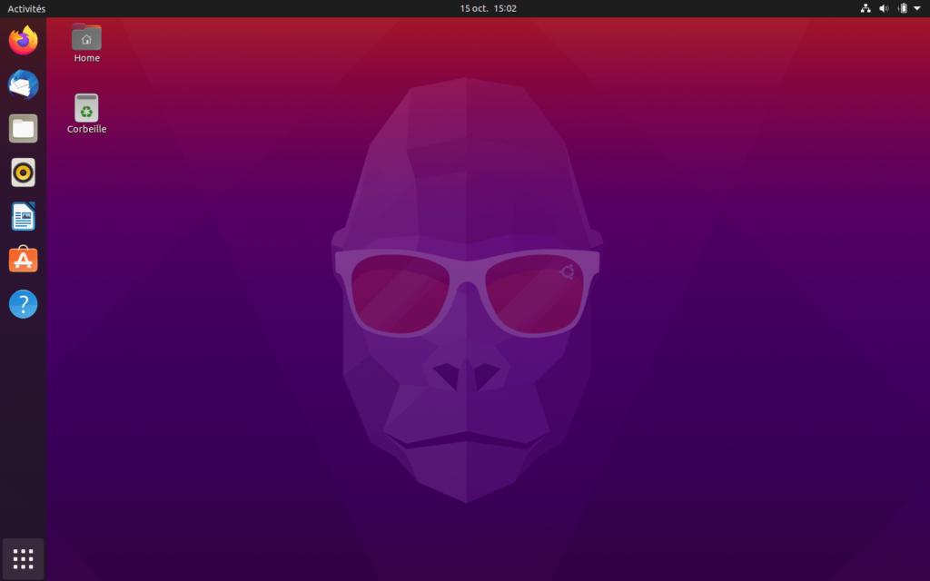 Bureau Ubuntu 20.10 Groovy Gorilla