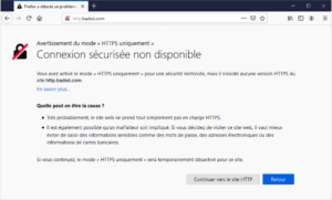 https non disponible