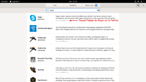 Skype dans gestionnaire de logiciels de Debian