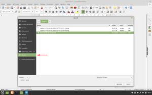 Accès aux favoris dans LibreOffice