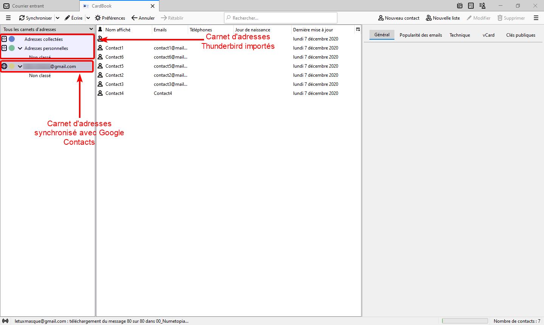 Carnet adresses CardBook
