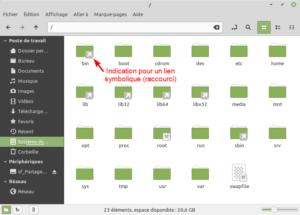 Liste des dossiers système Linux Mint 21