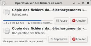 File d'attente de transfert de fichiers