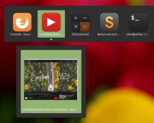 Aperçu d'une Web App dans Alt+Tab