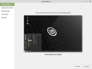 1 - Mise à jour vers Linux Mint 20.1 - Introduction