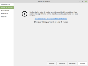2 - Mise à jour vers Linux Mint 20.1 - Notes de version