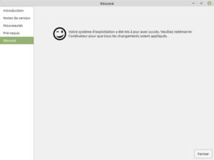 5 - Mise à jour vers Linux Mint 20.1 - fin