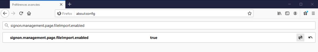 activer import mots de passe dans Firefox 85