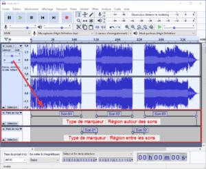 Exemple de résultats avec l'outil Marquer les sons