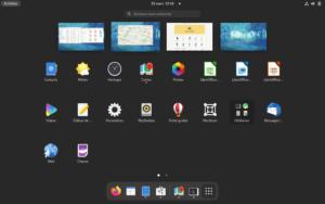 GNOME 40 - Menu des lanceurs
