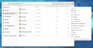 Nautilus - date de création des fichiers