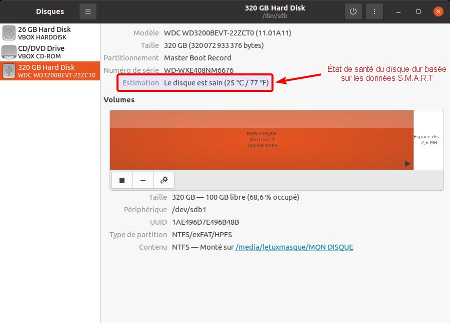 Controler l'état de santé d'un disque dur sous Linux avec Gnome Disks