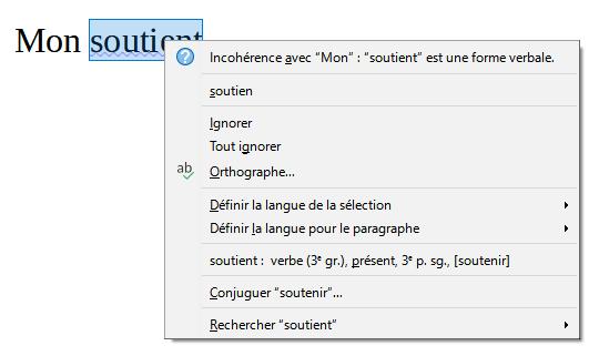 Grammalecte - erreur lexicale