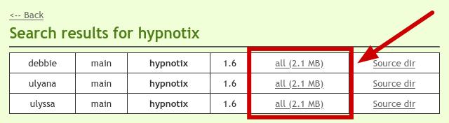 Hypnotix sur le dépôt de Linux Mint