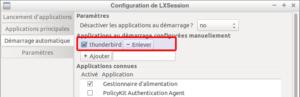 Application au démarrage de Lubuntu 18.04 ajoutée
