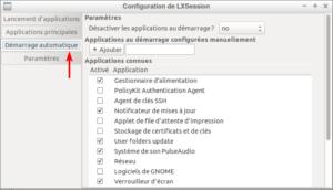 Accès démarrage automatique dans Lubuntu 18.04