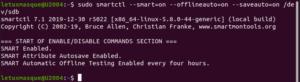 smartctl - activation SMART