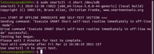 smartctl - auto-test court